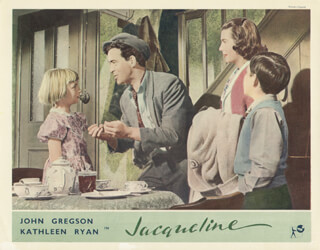 JACQUELINE MOVIE CAST - LOBBY CARD UNSIGNED (USA) 1956