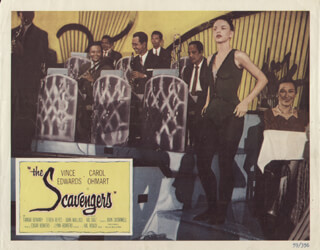THE SCAVENGERS MOVIE CAST - LOBBY CARD UNSIGNED (USA) 1959