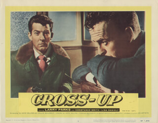 CROSS-UP MOVIE CAST - LOBBY CARD UNSIGNED (USA) 1958