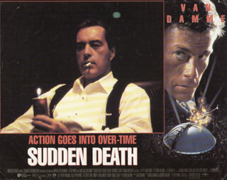 SUDDEN DEATH MOVIE CAST - LOBBY CARD UNSIGNED (USA) 1995