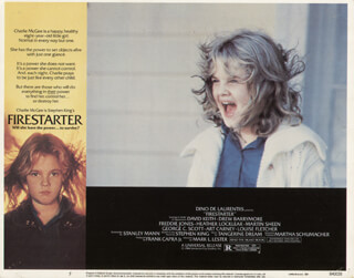 FIRESTARTER MOVIE CAST - LOBBY CARD UNSIGNED (USA) 1984