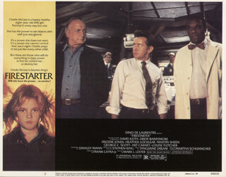 Firestarter Movie Cast Lobby Card Unsigned Usa 1984
