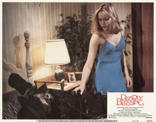 DEADLY BLESSING MOVIE CAST - LOBBY CARD UNSIGNED (USA) 1981