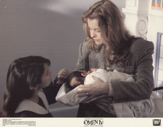 OMEN IV: THE AWAKENING MOVIE CAST - LOBBY CARD UNSIGNED (USA) 1991