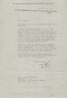 JEROME KERN - TYPED LETTER SIGNED 10/24/1944