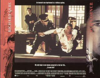RED CORNER MOVIE CAST - LOBBY CARD UNSIGNED (USA) 1997