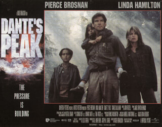 DANTE'S PEAK MOVIE CAST - LOBBY CARD UNSIGNED (USA) 1997