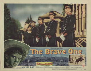 THE BRAVE ONE MOVIE CAST - LOBBY CARD UNSIGNED (USA) 1956