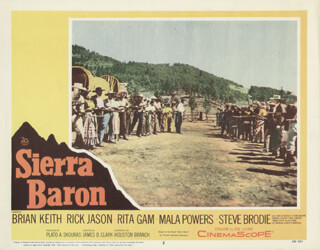 SIERRA BARON MOVIE CAST - LOBBY CARD UNSIGNED (USA) 1958