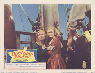 DEVIL-SHIP PIRATES MOVIE CAST - LOBBY CARD UNSIGNED (USA) 1964