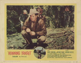RUNNING TARGET MOVIE CAST - LOBBY CARD UNSIGNED (USA) 1956