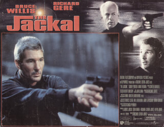 THE JACKAL MOVIE CAST - LOBBY CARD UNSIGNED (USA) 1997