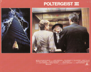 POLTERGEIST III MOVIE CAST - LOBBY CARD UNSIGNED (USA) 1988