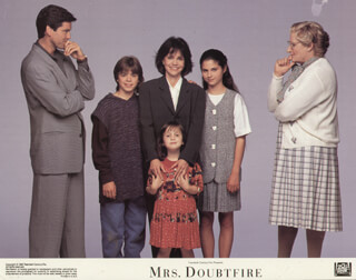 MRS. DOUBTFIRE MOVIE CAST - LOBBY CARD UNSIGNED (USA) 1993