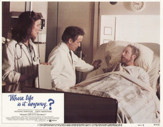 WHOSE LIFE IS IT ANYWAY MOVIE CAST - LOBBY CARD UNSIGNED (USA) 1981