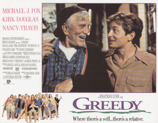 GREEDY MOVIE CAST - LOBBY CARD UNSIGNED (USA) 1994