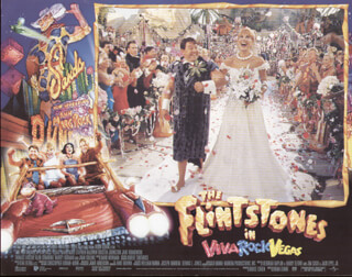 THE FLINTSTONES IN VIVA ROCK VEGAS MOVIE CAST - LOBBY CARD UNSIGNED (USA) 2000