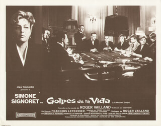 GOLPES DE LA VIDA MOVIE CAST - LOBBY CARD SIGNED