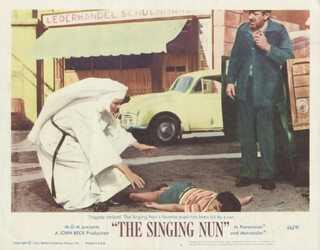 THE SINGING NUN MOVIE CAST - LOBBY CARD UNSIGNED (USA) 1966