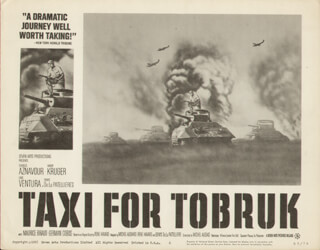 TAXI FOR TOBRUK MOVIE CAST - LOBBY CARD UNSIGNED (USA) 1960