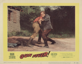 GUN FEVER MOVIE CAST - LOBBY CARD UNSIGNED (USA) 1958