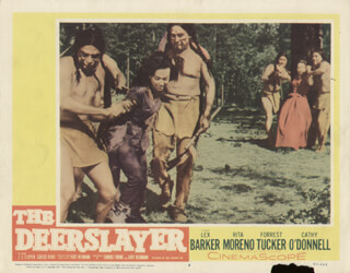 THE DEERSLAYER MOVIE CAST - LOBBY CARD UNSIGNED (USA) 1957