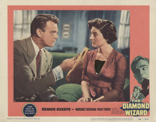 THE DIAMOND WIZARD MOVIE CAST - LOBBY CARD UNSIGNED (USA) 1954