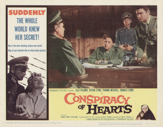 CONSPIRACY OF HEARTS MOVIE CAST - LOBBY CARD UNSIGNED (USA) 1960