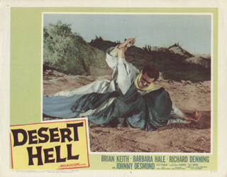 DESERT HELL MOVIE CAST - LOBBY CARD UNSIGNED (USA) 1958