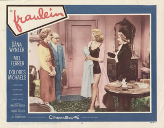 FRAULEIN MOVIE CAST - LOBBY CARD UNSIGNED (USA) 1958