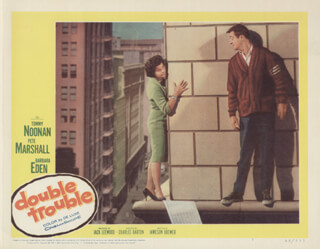 DOUBLE TROUBLE MOVIE CAST - LOBBY CARD UNSIGNED (USA)