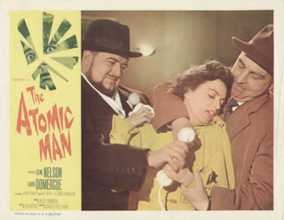 THE ATOMIC MAN MOVIE CAST - LOBBY CARD UNSIGNED (USA) 1956