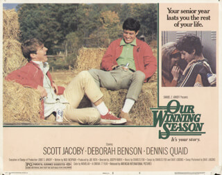 OUR WINNING SEASON MOVIE CAST - LOBBY CARD UNSIGNED (USA) 1978