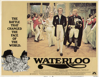 WATERLOO MOVIE CAST - LOBBY CARD UNSIGNED (USA) 1970