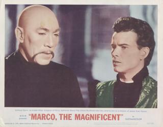 MARCO, THE MAGNIFICENT MOVIE CAST - LOBBY CARD UNSIGNED (USA) 1965