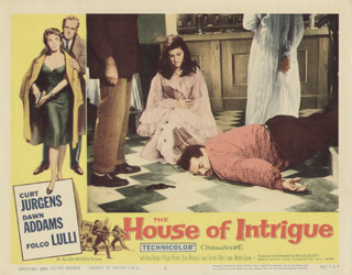 THE HOUSE OF INTRIGUE MOVIE CAST - LOBBY CARD UNSIGNED (USA) 1956