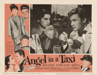 Autographs: ANGEL IN A TAXI MOVIE CAST - LOBBY CARD UNSIGNED (USA) 1959