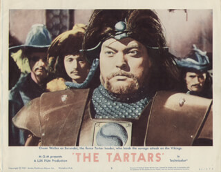 THE TARTARS MOVIE CAST - LOBBY CARD UNSIGNED (USA) 1960