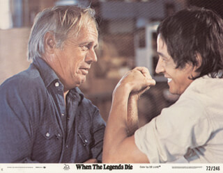 WHEN THE LEGENDS DIE MOVIE CAST - LOBBY CARD UNSIGNED (USA) 1972