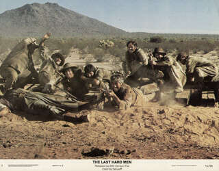 THE LAST HARD MEN MOVIE CAST - LOBBY CARD UNSIGNED (USA) 1976