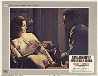 COUNTERPOINT MOVIE CAST - LOBBY CARD UNSIGNED (USA) 1967