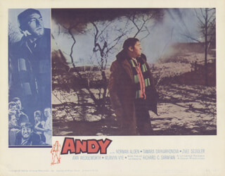 Autographs: ANDY MOVIE CAST - LOBBY CARD UNSIGNED (USA) 1965
