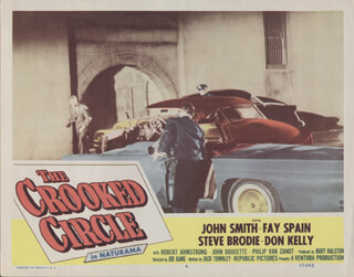 THE CROOKED CIRCLE MOVIE CAST - LOBBY CARD UNSIGNED (USA) 1958