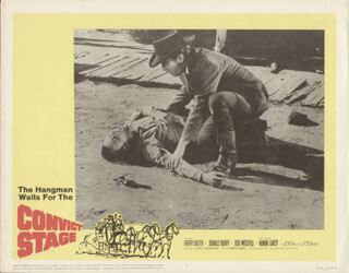 CONVICT STAGE MOVIE CAST - LOBBY CARD UNSIGNED (USA) 1965
