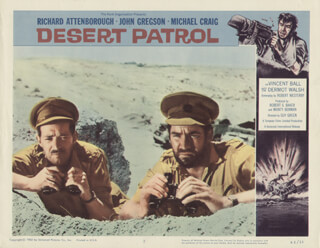 DESERT PATROL MOVIE CAST - LOBBY CARD UNSIGNED (USA) 1958