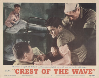 CREST OF THE WAVE MOVIE CAST - LOBBY CARD UNSIGNED (USA) 1954