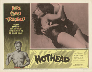 HOTHEAD MOVIE CAST - LOBBY CARD UNSIGNED (USA) 1963