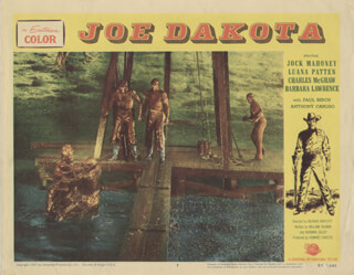 JOE DAKOTA MOVIE CAST - LOBBY CARD UNSIGNED (USA) 1957