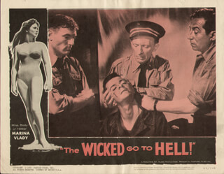 THE WICKED GO TO HELL MOVIE CAST - LOBBY CARD UNSIGNED (USA) 1961