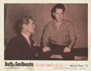 DUFFY OF SAN QUENTIN MOVIE CAST - LOBBY CARD UNSIGNED (USA) 1954